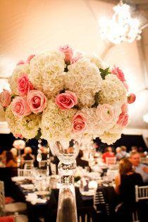 ...mocha rose designs tall pink centerpiece