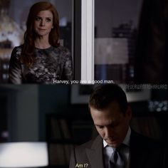 Suits Harvey Specter and Donna Paulson