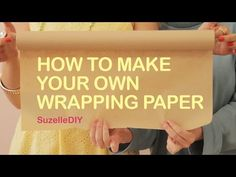 "7 January ""Takealot of this DIY Christmas Special with Suzelle"". Episode How to make your own wrapping paper. Diy Christmas Videos, Diy Christmas Gifts, Paper Gifts, Diy Paper, Make Your Own, Make It Yourself, How To Make, Diy Holiday Cards, Gift Wrapping Paper"