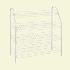 Paper storage? ClosetMaid, 4-Tier Ventilated Wire Shoe Rack (12-Pair), 8131 at The Home Depot - Mobile