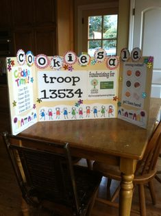 girl scout cookie booth sign ideas Adorable Girl Scout cookie sign for cookie booths Girl Scouts Girl Scout Law, Scout Mom, Girl Scout Leader, Daisy Girl Scouts, Girl Scout Cookie Sales, Girl Scout Cookies Recipes, Girl Scout Activities, Girl Scout Juniors, Girl Scout Crafts