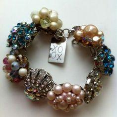 Bracelet made with vintage earrings. ♥