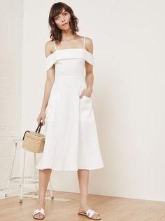 Reformation Jaclyn Dress White as seen on Jessica Alba