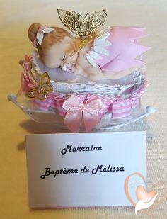 Marque place bébé fille fée clochette rose baptême - au coeur des arts - Enfants - Au coeur des Arts