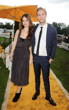 With Jack Fox at the Veuve Clicquot Gold Cup Final in Midhurst, England.