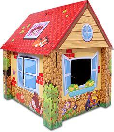 Casa de Juegos gigante  Juego de cartón impreso con encastres.