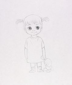 Concept Art, Boo, Monsters, Inc., 2001
