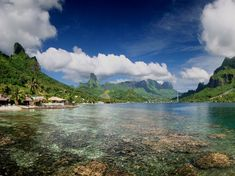 Due northwest of Tahiti and surrounded by a bright blue lagoon, this volcanically formed island comprises verdant mountains jutting up behind white-sand beaches. In the interior, you can explore the ruins of marae—crumbling temples built by ancient Polynesians. —J.S.