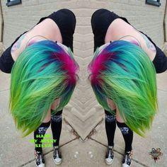 @hairbykaseyoh.  rainbow roots. I did on this chic today! #lollipoplocks #hotrisingstar #hotonbeauty #woocutz #wonderlandhair #modernsalon #arcticfoxhaircolor #allaboutdahair #mermaidians #mermaid #rainbowhair #hair #hairstyles #haircolor #authentichairarmy #hairaddictionmag #popsugar #life #hairstylist #idohair #tagteam #butterflyloftsalon#embeemeche by hair_by_jessy_silva_ You can follow me at @JayneKitsch