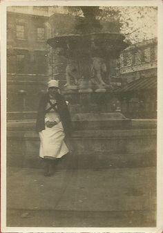 Unidentified Probationer Nurse,c.1930s St Bartholomew's Hospital Courtyard | by backmanmal
