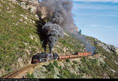 High quality photograph of SAR Beyer Garratt class GEA # 4023 at George, South Africa. South African Railways, Destinations, Steam Engine, Steam Locomotive, The Other Side, Landscape Photography, Explore, World, Places