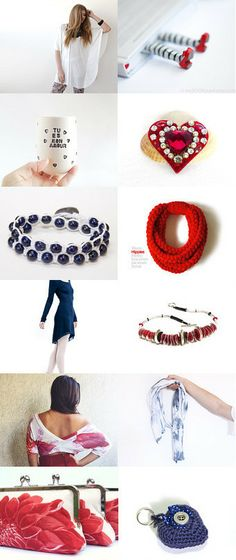 Trends in blue and red by Klaus Trappschuh on Etsy--Pinned with TreasuryPin.com