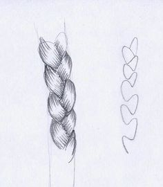 .A super simple guide on how to draw a braid ! ~ :D ( hopefully the rest of the steps after you draw the spine looking thing are self explanatory)