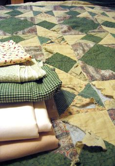 How to mend an old quilt - great instructions!