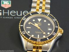 TAG Heuer 1000 Submariner Man Twotone 18K Plated/ st.steel black dial 980.020B
