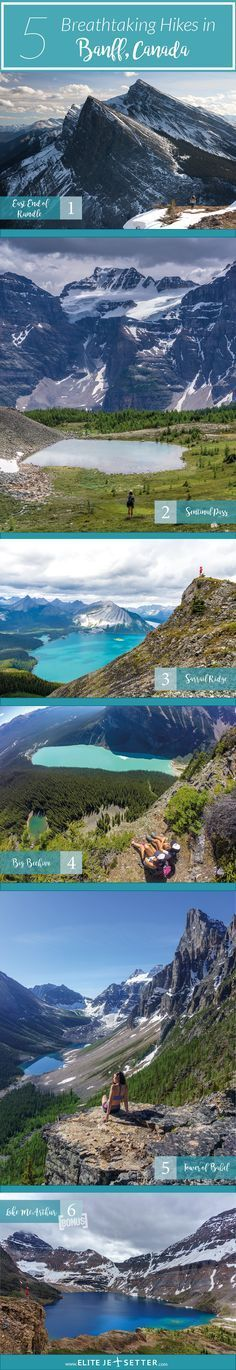 It's hard to choose the best hikes in Banff because there's so many but here are our TOP 5 MOST BREATHTAKING HIKES... Read more at www.elitejetsetter.com/top-5-best-hikes-near-banff #hiking #banff