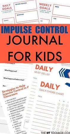 Impulse control journal for kids Coping Skills, Social Skills, Life Skills, Social Work, Therapy Activities, Learning Activities, Activities For Kids, Teaching Ideas, Control Journal
