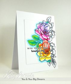 You and Your Big Dreams: Altenew Beautiful Day Rainbow stamp highlighting card