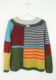 Colorblock sweater / Women Sweater / Wool Sweater / Patchwork Sweater / Size: XS, S Yarn Sizes, How To Start Knitting, Knitted Coat, Sweater Making, Cashmere Wool, Wool Sweaters, Knitting Sweaters, Color Block Sweater, Sweater Shirt