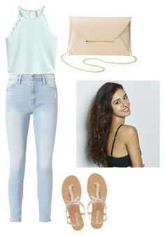"""Mint"" by megh87 on Polyvore featuring Frame, Head Over Heels by Dune and Charlotte Russe"