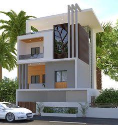 Ideas For Exterior House Design Modern Facades Architecture - Exterior Design Modern Exterior House Designs, Bungalow Exterior, Luxury Homes Exterior, Modern House Design, Home Design, Exterior Design, Modern Home Exteriors, Design Ideas, Bungalow Haus Design