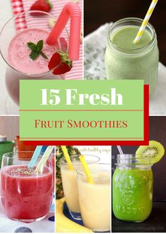 These fresh fruit smoothies are a quick and easy day to start your day. Have one for breakfast or as an afternoon pick me up, they are healthy and delicious