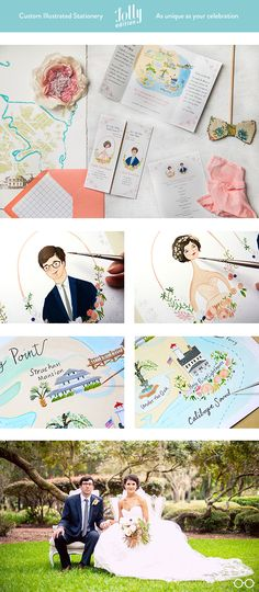 #custom #wedding #stationery by @Jolly Edition. Includes: #invitation…