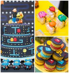 Pac Man Video Game Birthday Party via Kara's Party Ideas | KarasPartyIdeas.com (3)