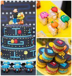 Pac Man Video Game Birthday Party via Kara's Party Ideas | KarasPartyIdeas.com (3)