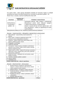 kurz instruktor se specializací sjíždění