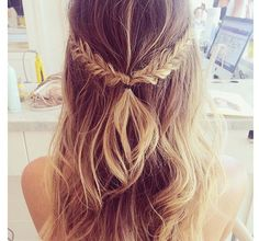 half up half down Braid #hair #hairstyle #longhair