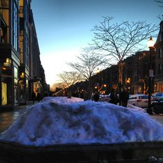 Boston snow at Dusk