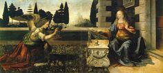The Annunciation, Leonardo da Vinci Painting Reproductions Obras Leonardo Da Vinci, Leonardo Da Vinci Biography, Michelangelo, Galerie Des Offices, Art Ninja, Goldscheider, Google Art Project, Art Ancien, Art History