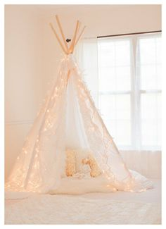 Shabby Chic indoor tent for girl's room