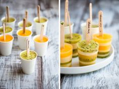 willyoubemysunshineonarainyday paperfrenzy:  Kiwi Orange Creamsicles makes ~24 popsicles, very much depending on the size of the molds  for cream layer: 1 cup heavy cream, divided into two 1/2 cups 1/2 cup whole milk 1/4 cup (50 gr) sugar pinch of salt 3 egg yolks 1 tspn vanilla extract  1. Place 1/2 cup of cream in a small bowl with a fine mesh strainer on top. Set aside. 2. In a small saucepan, combine the milk, the remaining 1/2 cup of cream, sugar, and salt. Bring to just a simmer. 3…