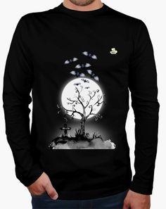 Camiseta Halloween · Noche mortal Camiseta hombre manga larga  19,90 € - ¡Envío gratis a partir de 3 artículos!