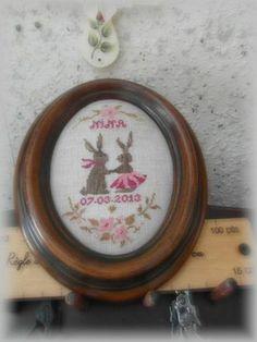 Stitcher: Marielle Tirot (the crosstitchfairy), France;    Design: The Snowflower Diaries - Spring Bunny Love