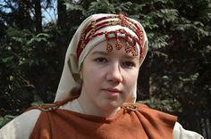 Perniö head ornament, Finland ca. Viking Clothing, Historical Clothing, Iron Age, Vikings, David The Gnome, Viking Garb, Medieval Costume, Folk Costume, Renaissance Fair