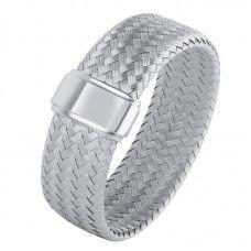 "Charles Garnier Sterling Silver ""Splendido"" Cuff Bracelet"