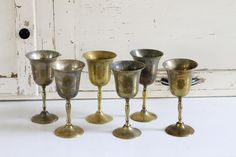 brass goblets from Southern Vintage, rent for your vintage wedding or event