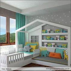 Inspiração: Quarto para os crescidinhos. ❤️ www.gravidaseantenadas.com.br #decor #ideias #inspiração
