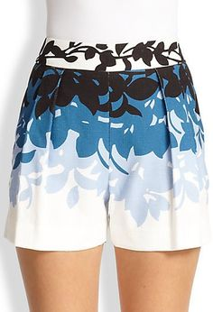 Pin for Later: 32 Spring Shorts For Every Occasion Carolina Herrera Floral Shorts Carolina Herrera Floral Shorts ($690)