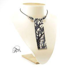 peyote necklace forest shadows handmade beadwork by tipikabeadwork