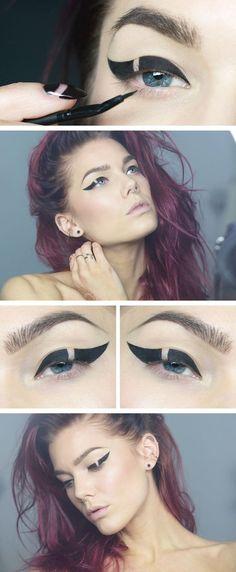 Broken Eyeliner Look #Trends #beauty