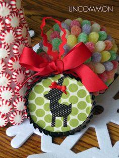 reindeer fabric ornament
