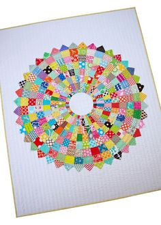 Red Pepper Quilts: Giant Dresden Plate Quilt - A Finished Quilt. Here is the tutorial for this quilt: http://www.redpepperquilts.com/2013/04/giant-scrappy-dresden-plate-block-and.html