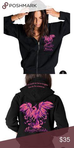 66f396adf7 Beautiful Disaster Zip up hoodie
