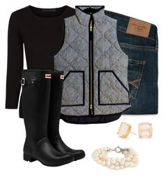 """""""getting this vest for Christmas"""" by maciemccoy ❤ liked on Polyvore featuring Abercrombie & Fitch, Alexander Wang, J.Crew, Hunter and Kate Spade"""