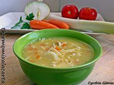 sopa de pollo, caldo de ave, caldo, sopa de carne, sopa thermomix