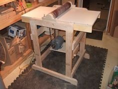 I just finished building a much needed dual use drum sander with culled woods from Home Depot. Diy Projects Engineering, Home Projects, Wood Tools, Diy Tools, Used Drums, Diy Drums, Home Blogs, Construction Tools, Tool Shop